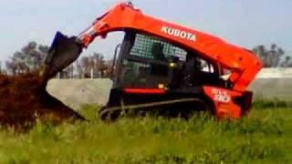 Kubota SVL90 Track Loader In Action