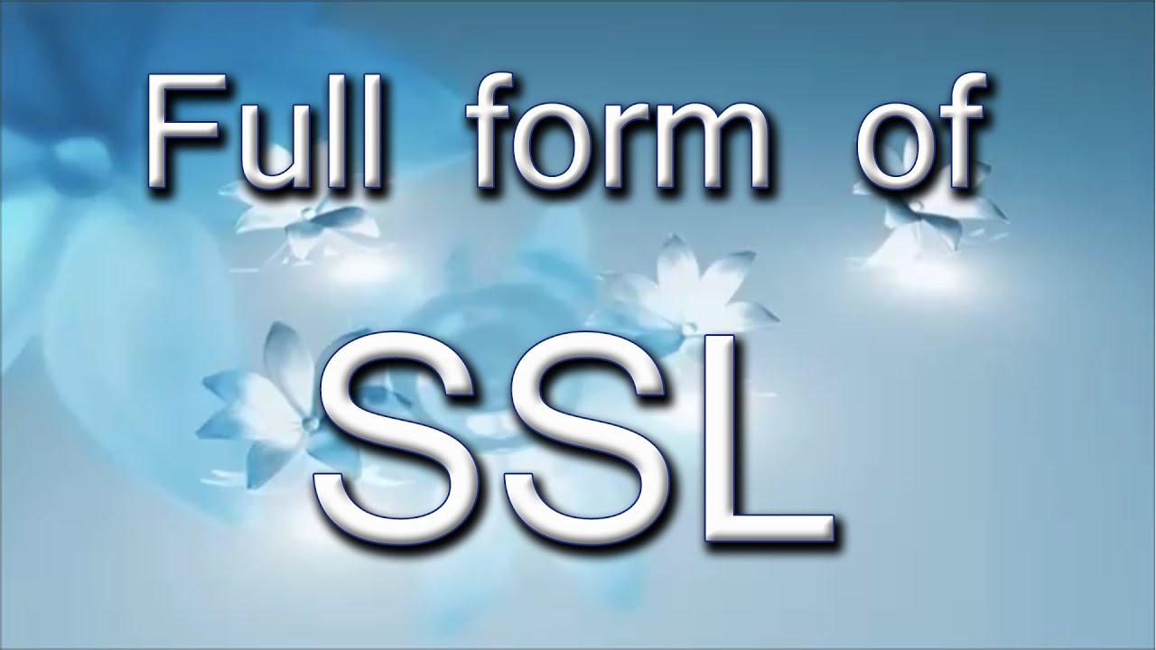 Ssl Full Form Nurufunicaasl