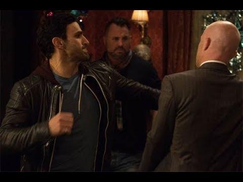 EastEnders - Kush Kazemi Beats Up Max Branning (4th December 2017)
