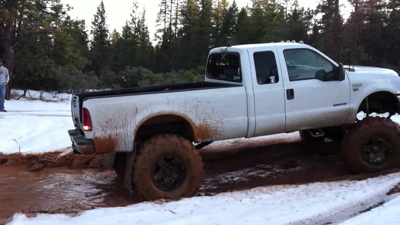 Lifted f250 mud pit youtube sciox Images