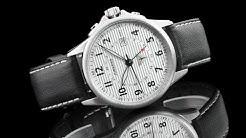 Junkers 6848-1 Tante JU Series 40mm German Made Swiss Quartz GMT Leather Strap Watch
