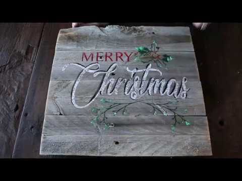 Rustic Sign Night Demo - Merry Christmas