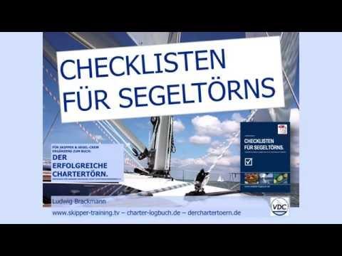 Packen mit 📘 Checklisten fuer Segeltörns - ▶ Download | www.charter-logbuch.de