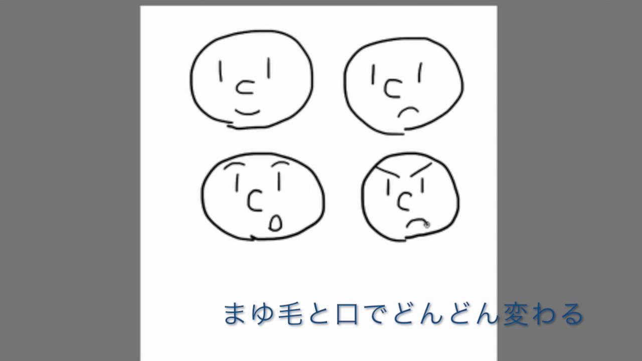 簡単イラスト講座2 表情の描き方 Youtube