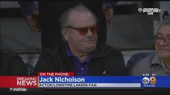 Lakers Super Fan Jack Nicholson Pays Tribute To Kobe Bryant