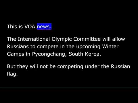 VOA news for Wednesday, December 6th,  2017