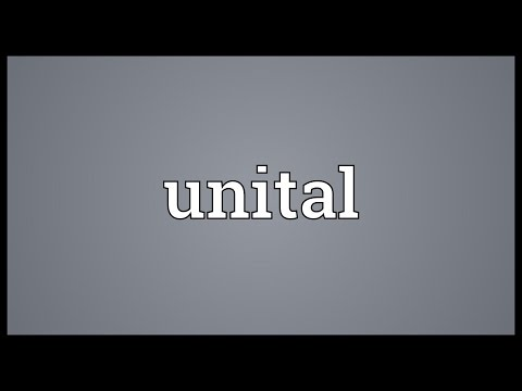 Unital Meaning