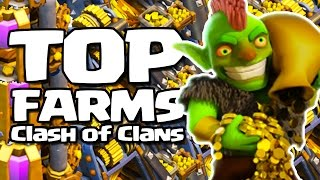 Clash of Clans - TOP FARMS GIGANTESCOS com MAIS DE 1 MILHÃO DE RECURSOS SOMADOS!!