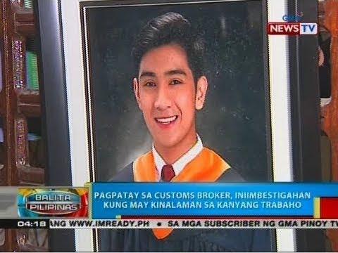BP: Pagpatay sa customs broker, iniimbestigahan kung may kinalaman sa kanyang trabaho