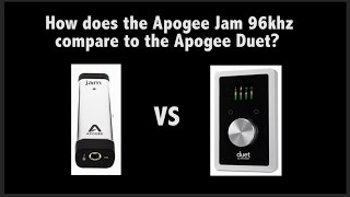 It is great to have a little device like the Apogee Jam: It' s tiny...
