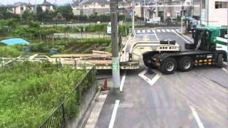 16輪ステアリングトレーラーの検証 株式会社江北重機運輸 thumbnail