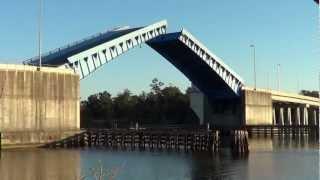 Small TOWBOAT Popps Ferry Draw Bridge Biloxi NOV 18 2012