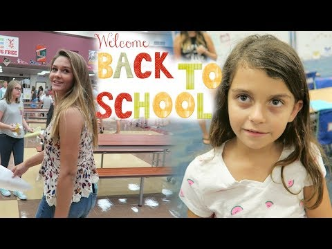GET READY WITH ME THE NIGHT BEFORE THE 1ST DAY OF SCHOOL! SCHOOL TOURS!
