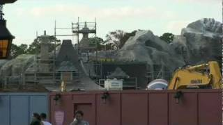 New Fantasyland Construction Including Belle's Cottage, Mermaid, Storybook Circus 1/17/12