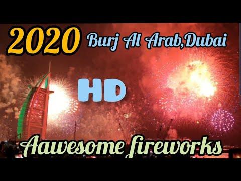 Burj Al Arab , Dubai Fireworks 2020, Happy New year 2020