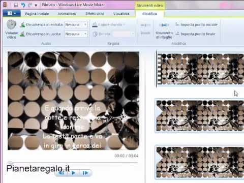 Tutorial italiano windows Live Movie Maker: inserimento e modifica testo e video