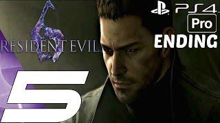 Resident Evil 6 (PS4) - Gameplay Walkthrough Part 5 - Final Boss & Ending (Chris) [1080P 60FPS]