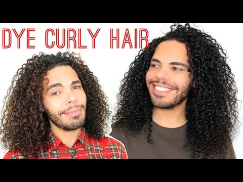 How I Refresh / Dye My Curly Hair Blackish