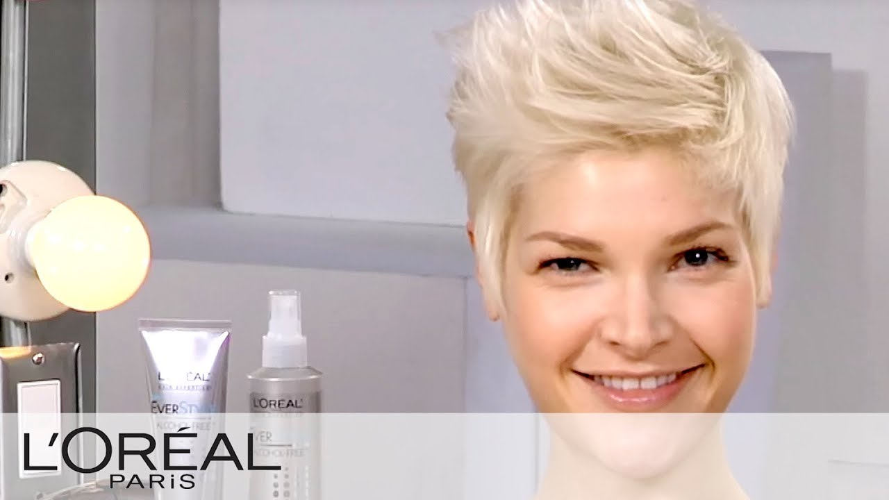 Everstyle Get The Look Create An Edgy Short Hair Style Youtube