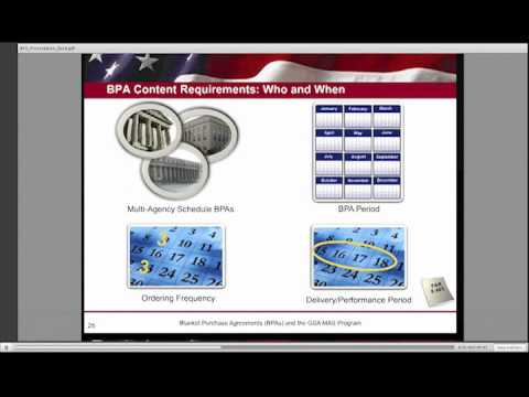 Gsa Training Blanket Purchase Agreements Bpas 5 Of 6 Youtube