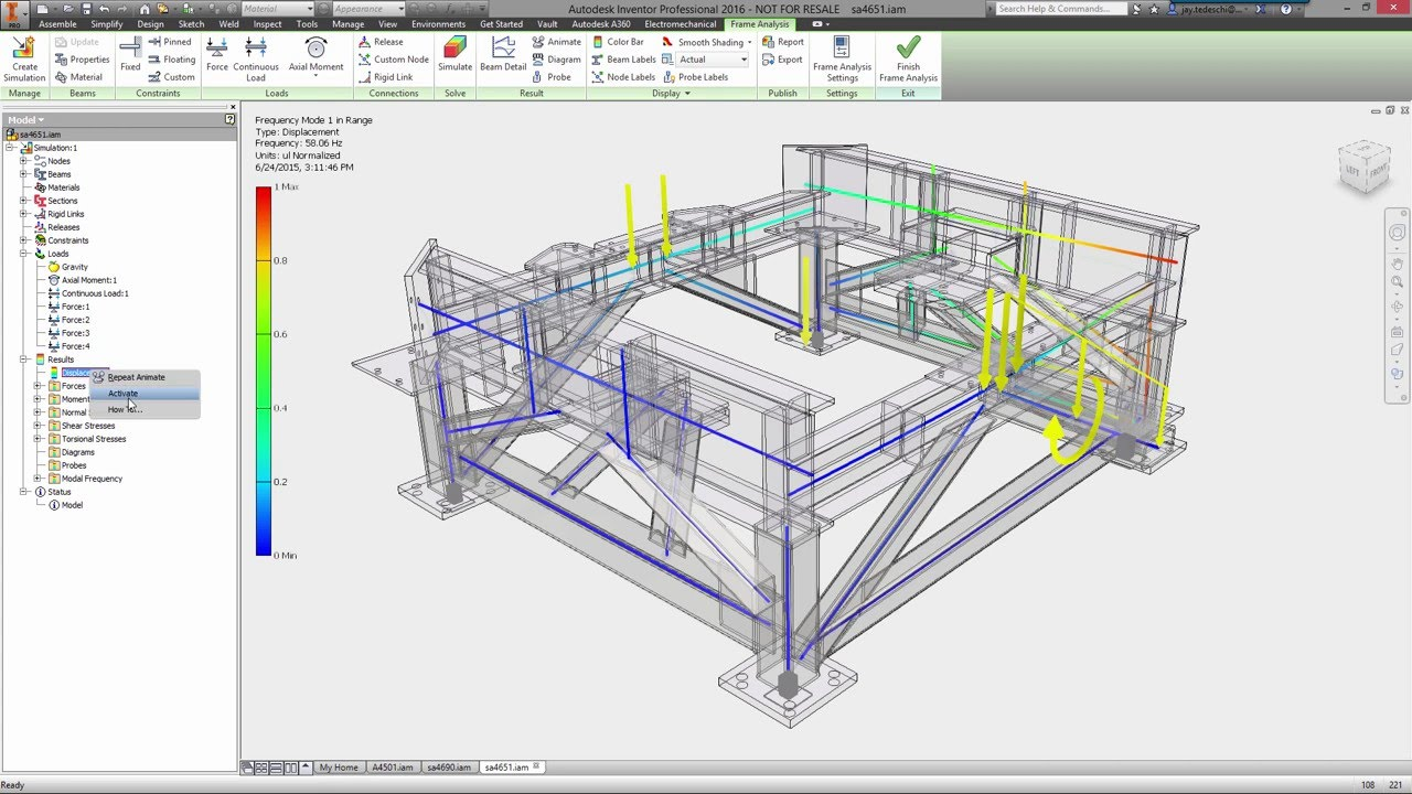 Autodesk inventor frame design long youtube for Autodesk online home design