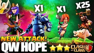 How to QueenWalk HOPE 5 Healers + 1 Pekka + 24 Hogs | TH10 3 Star Attack Clash of Clans - Update