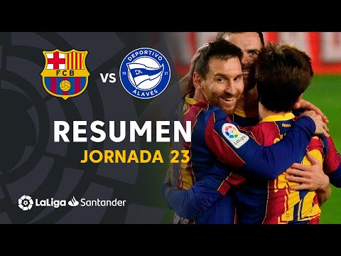 Resumen de FC Barcelona vs Deportivo Alavés (5-1)