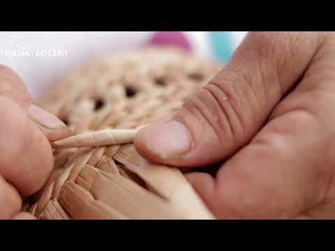 Weaving Cattail Baskets