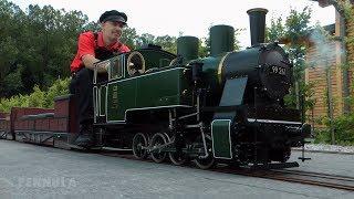 Dampflokomotive LAG 64 auf der Parkeisenbahn bzw. Gartenbahn im Hans-Peter Porsche Traumwerk