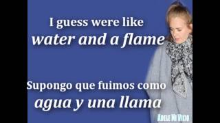 Adele - Water And A Flame ft. Daniel Merriweather  (Lyrics+Sub.)