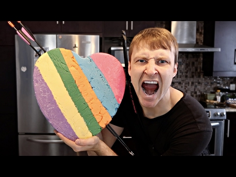 DIY RAINBOW CHOCOLATE HEART (DANGEROUS VALENTINE)