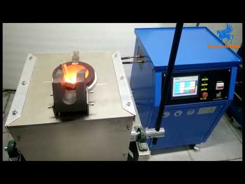 How to Melt Metals, 20-30kg PLC Manual Tilting Induction Melting Furnace for Your Choice