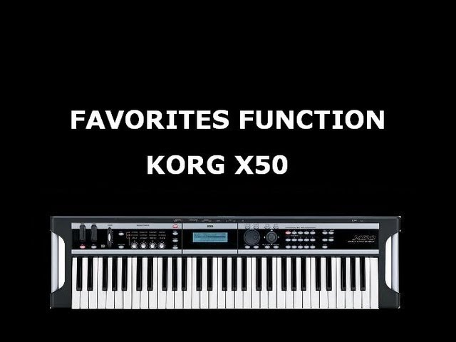 KORG X50 FAVORITES FUNCTION Travel Video