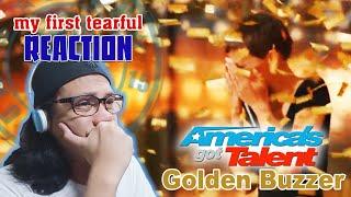 Golden Buzzer: Nightbirde's Original Song Makes Simon Cowell Emotional || REACTION