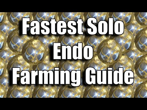 Warframe Guide: Fastest Solo Endo Farming