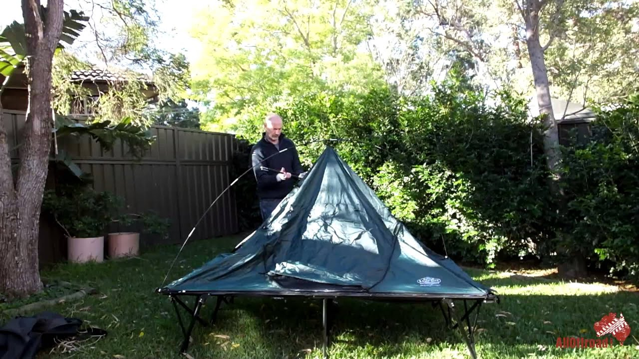 Alloffroad Product Review K& Rite CTC DOUBLE 2 Person C&ing Tent Cot - YouTube : tent with cot - memphite.com
