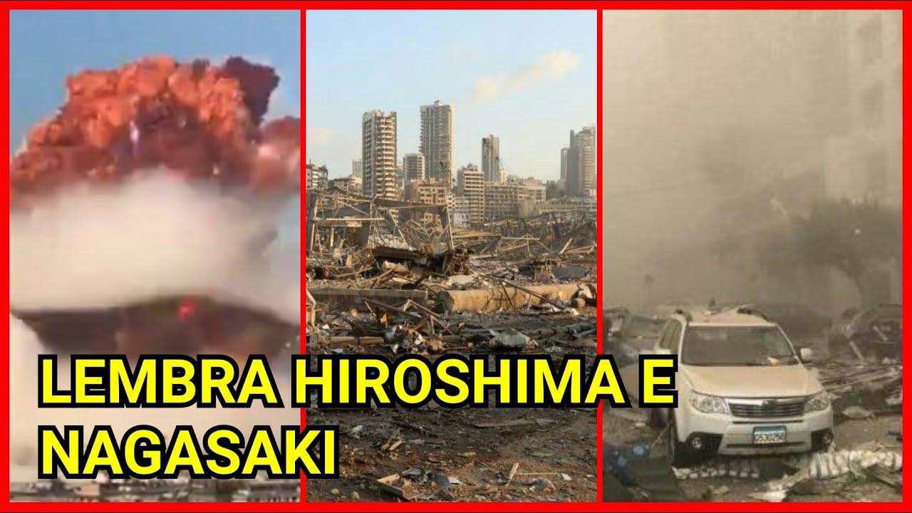 Governo de Beirute - a destruição da cidade lembra Hiroshima e Nagasaki