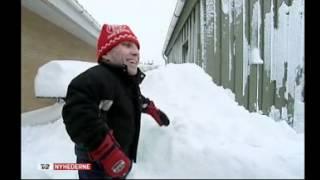 98cm Dan 1 meter sne i TV2 Nyhederne.