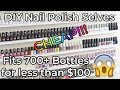 How to Make Cheap DIY Nail Polish Shelves | Red Iguana | April Ryan