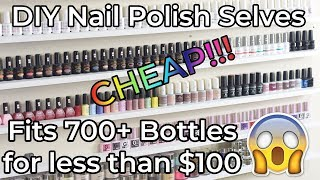 How to Make Cheap DIY Nail Polish Shelves | Red Iguana | April Ryan