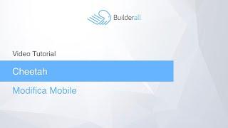 Modifiche sulla parte Mobile in Cheetah Builder di Builderall