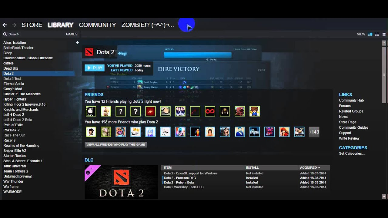 Dota 2 Steam not launching by Play button *FIX* Windows 10 x64 Bit