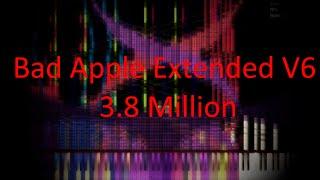 [Black MIDI] Bad Apple Extended V6 | 3.8 Million