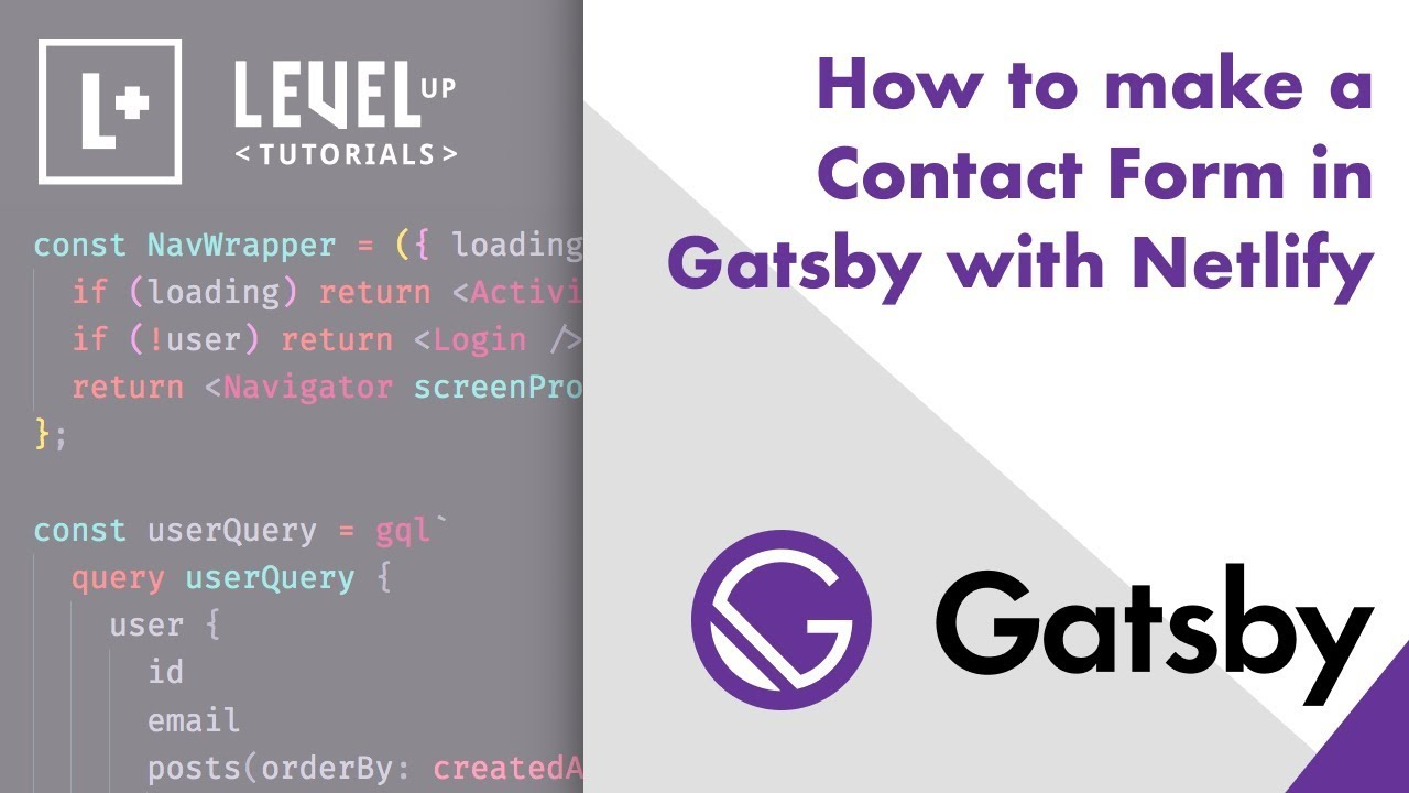 How to make a Contact Form in Gatsby with Netlify