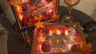 Dollar Tree Diy | FALL LIGHTED DECOR🍁🍂