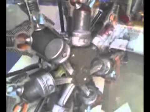 Motor en estrella de un avión Star engine aircraft 航空機エンジン 飛機發動機