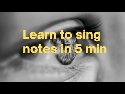 Learn to sing music notes in 5 minutes with this single song