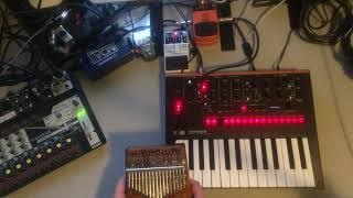 #Jamuary2019: Pixelate (Electric Kalimba, Korg Monologue, Behringer SF300, Boss DD-7, Hotone Verb)