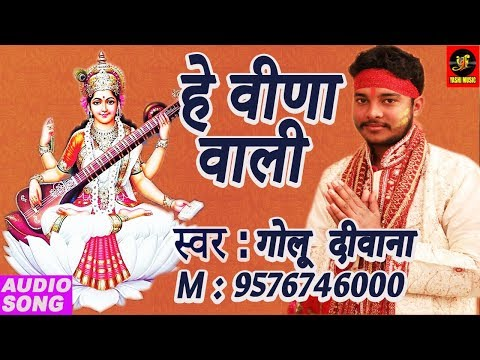Saraswati Mata Bhajan । हे वीणावादिनी सरस्वती | Golu Deewana | Bhojpuri 2018