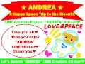 """LINE Sticker """"ANDREA Happy Space Trip to the Moon!"""""""